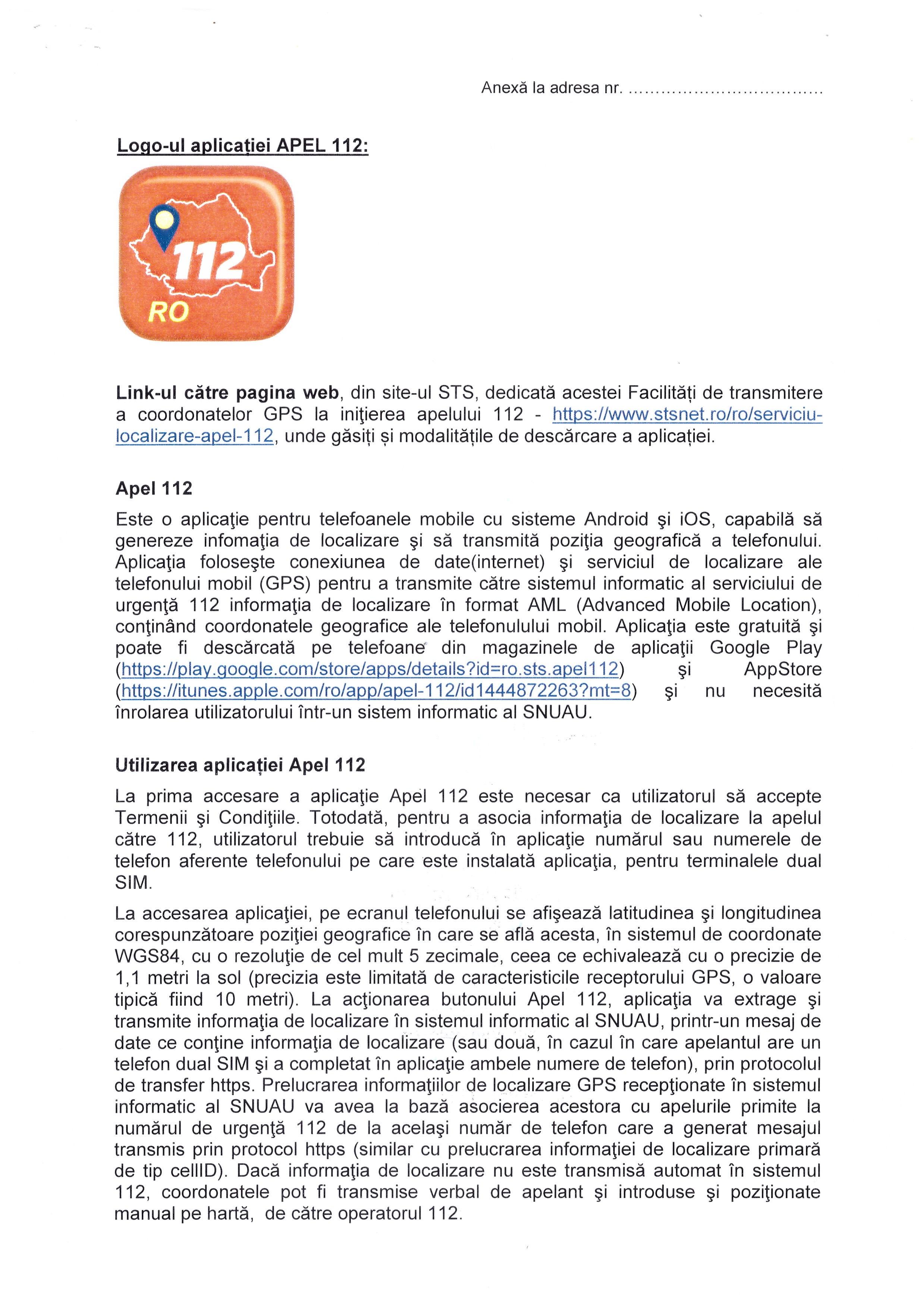 Logo-ul Aplicatiei APEL 112